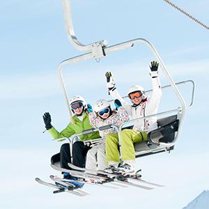 ski lift kids