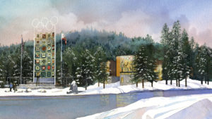 SNOW Museum rendering in Olympic Valley, California